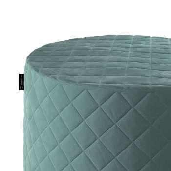 Puf Barrel pikowany w kolekcji Velvet, tkanina: 704-18