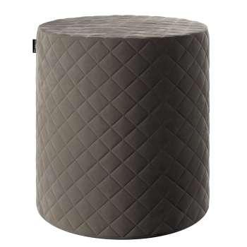 Sedák Barrel pevný, s prošitím, d40cm, výška 40cm v kolekci Velvet, látka: 704-19