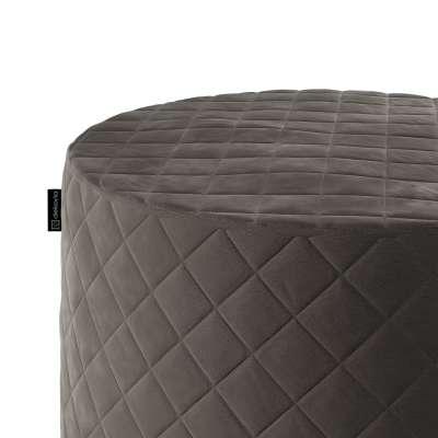 Taburetka valec - prešívaná do kosoštvorcov V kolekcii Velvet, tkanina: 704-19