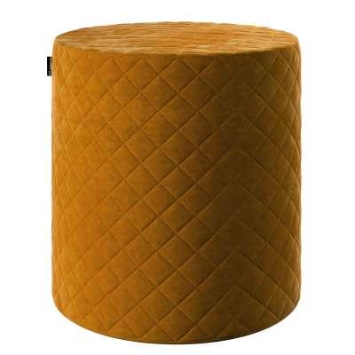 Pouf Barrel gesteppt von der Kollektion Velvet, Stoff: 704-23