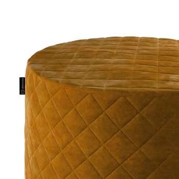 Puf Barrel pikowany w kolekcji Velvet, tkanina: 704-23