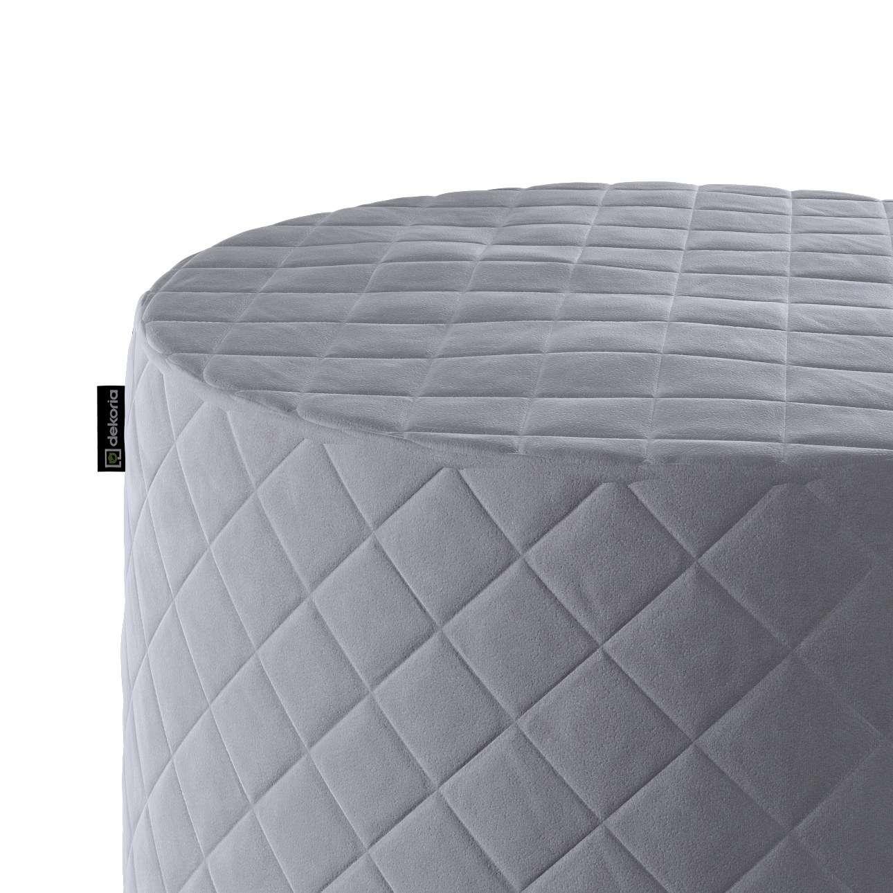 Puf Barrel pikowany w kolekcji Velvet, tkanina: 704-24