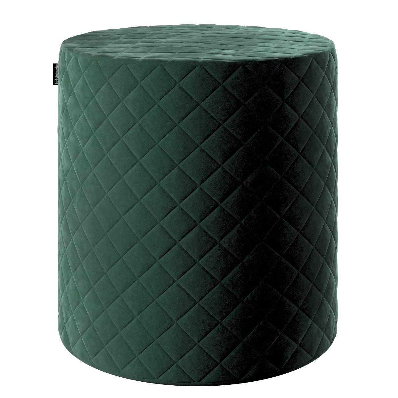 Puf Barrel pikowany w kolekcji Velvet, tkanina: 704-25
