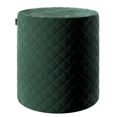 Pufas Barrel dygsniuotas 704-25 tamsi žalia Kolekcija Velvetas/Aksomas