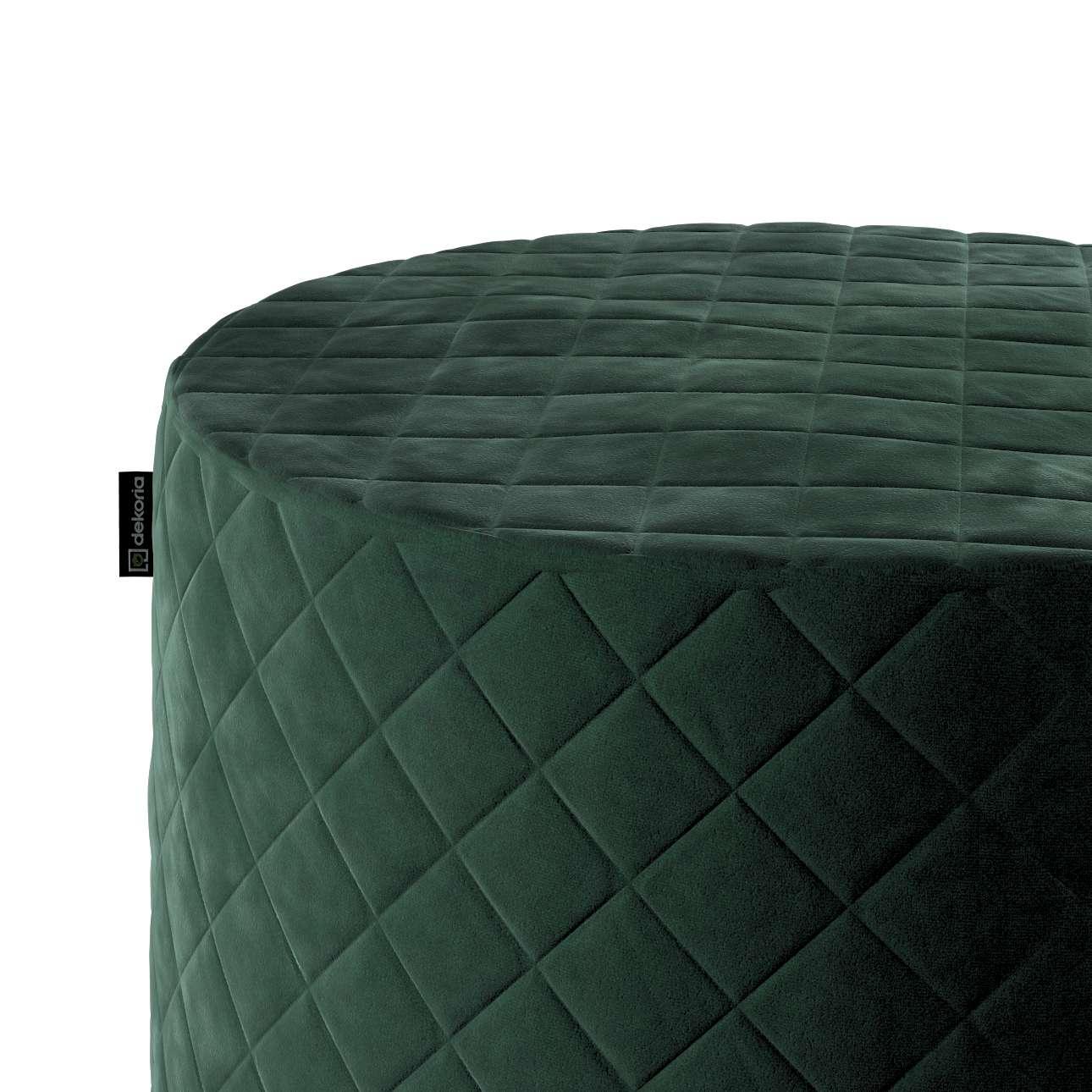 Sedák Barrel pevný, s prošitím, d40cm, výška 40cm v kolekci Velvet, látka: 704-25