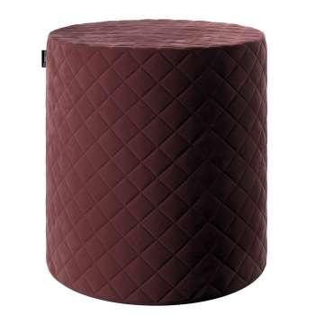 Pouf Barrel gesteppt von der Kollektion Velvet, Stoff: 704-26