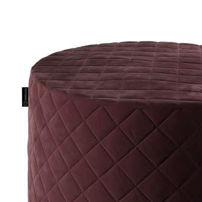 Siddepuf og fodskammel i quiltet velour fra kollektionen Velvet, Stof: 704-26