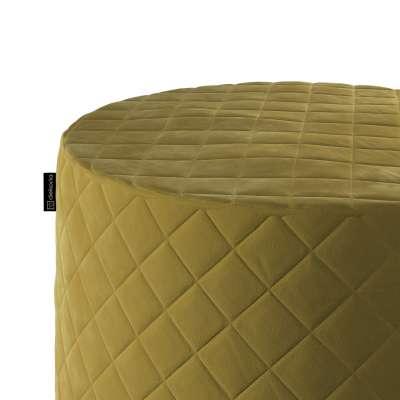 Pufas Barrel dygsniuotas 704-27 gelsvai žalia Kolekcija Velvetas/Aksomas