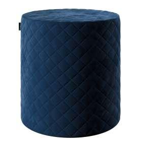 Siddepuf og fodskammel i quiltet velour