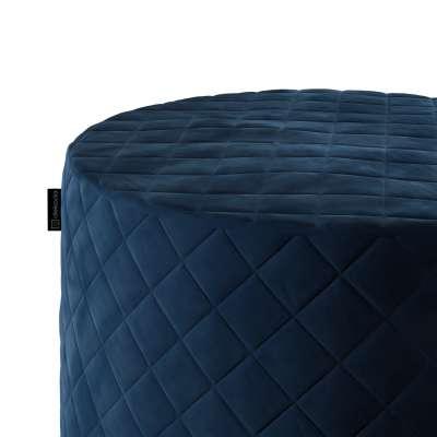 Pufas Barrel dygsniuotas 704-29 tamsi melsva Kolekcija Velvetas/Aksomas