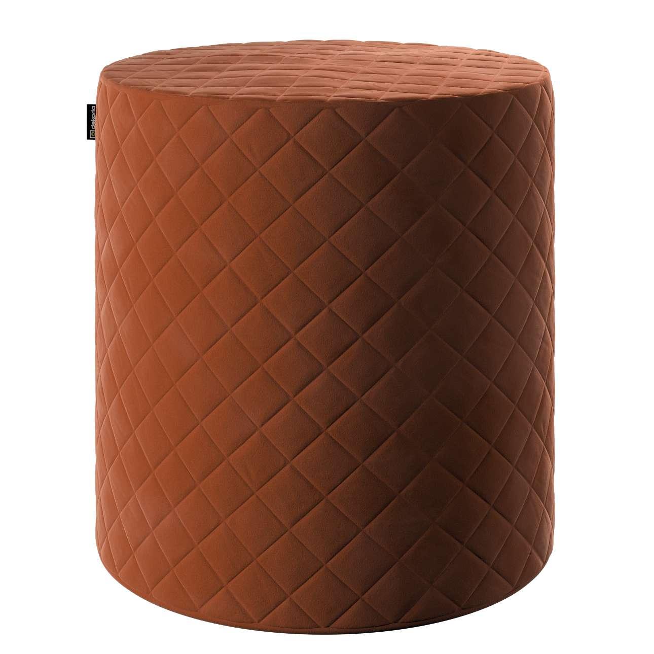 Pouf Barrel gesteppt von der Kollektion Velvet, Stoff: 704-33