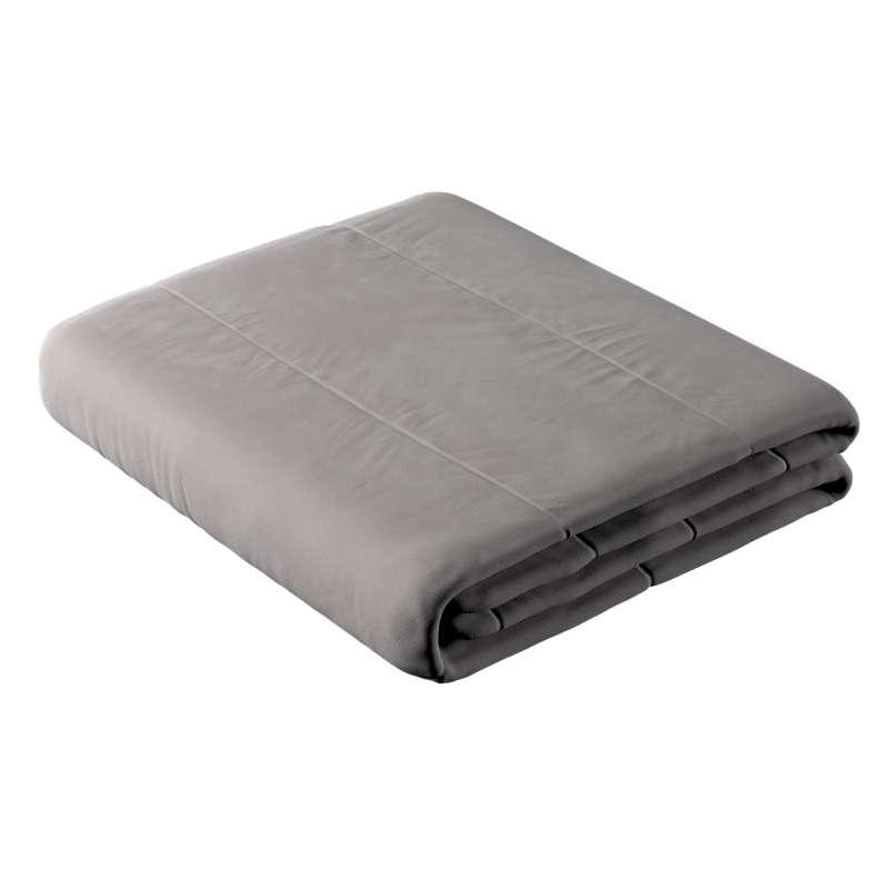 Sengetæppe quiltet<br/>i 25cm striber i velour fra kollektionen Velvet, Stof: 704-11