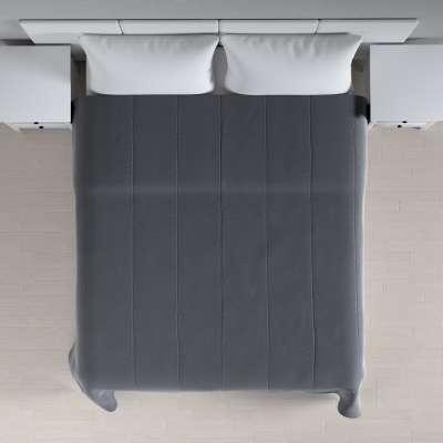 Velvet kolekcijos lovatiesės su vertikaliu dygsniavimu 704-12 Tamsiai pilkas Kolekcija Velvetas/Aksomas