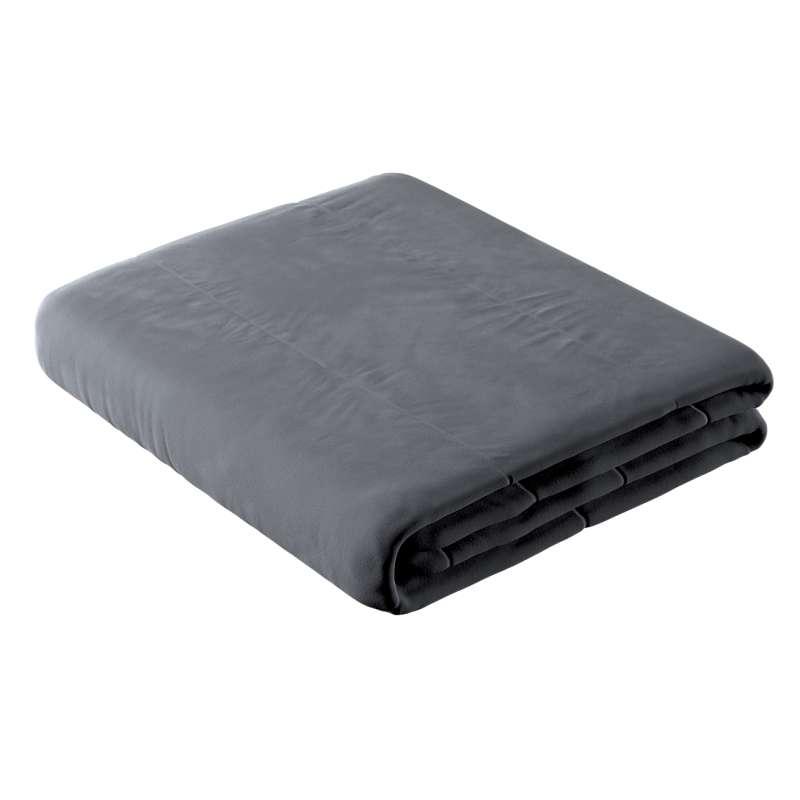 Sengetæppe quiltet<br/>i 25cm striber i velour fra kollektionen Velvet, Stof: 704-12