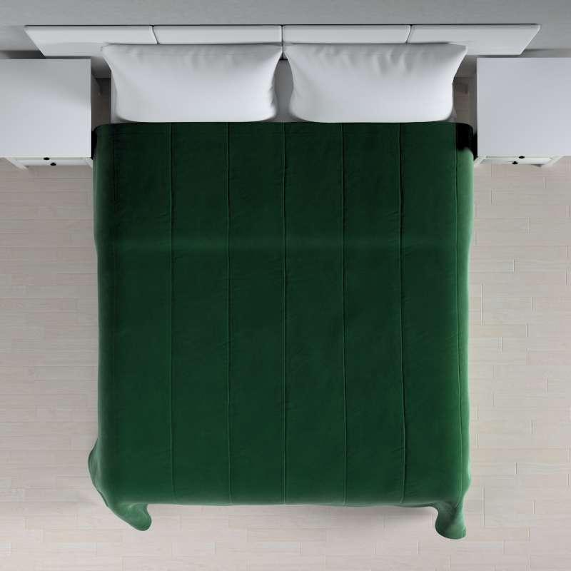 Sengetæppe quiltet<br/>i 25cm striber i velour fra kollektionen Velvet, Stof: 704-13