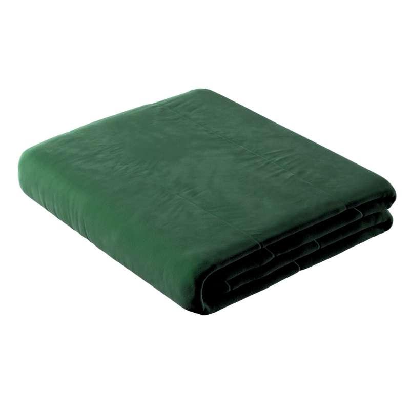 Sengetæppe quiltet<br/>25cm striper i velour fra kolleksjonen Velvet, Stoffets bredde: 704-13