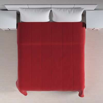 Velvet kolekcijos lovatiesės su vertikaliu dygsniavimu 704-15 Raudona Kolekcija Velvetas/Aksomas