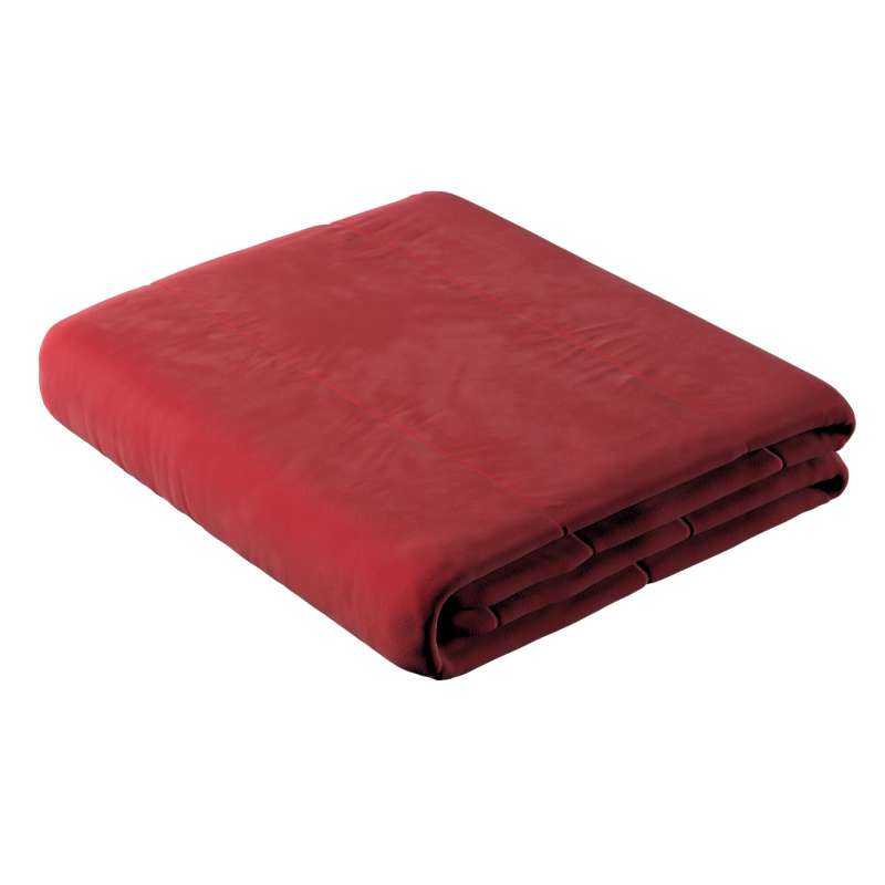 Sengetæppe quiltet<br/>i 25cm striber i velour fra kollektionen Velvet, Stof: 704-15