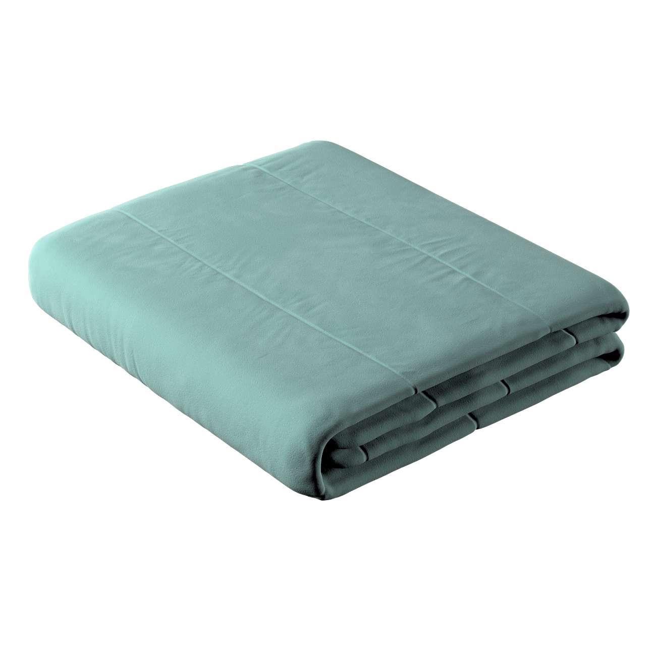 Sengetæppe quiltet<br/>i 25cm striber i velour fra kollektionen Velvet, Stof: 704-18