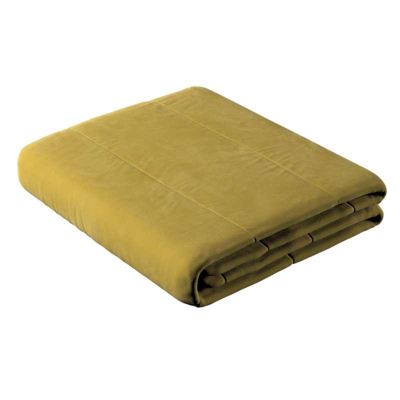 Sengetæppe quiltet<br/>i 25cm striber i velour fra kollektionen Velvet, Stof: 704-27