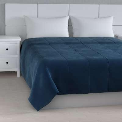 Sametový přehoz Velvet 704-29 tmavě modrá Kolekce Velvet