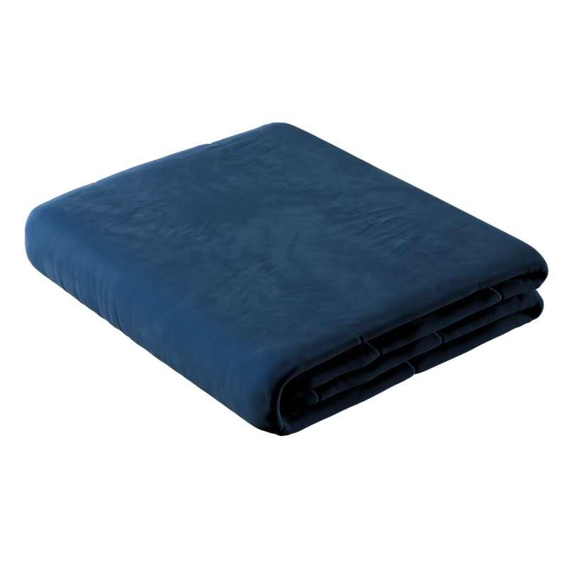 Sengetæppe quiltet<br/>i 25cm striber i velour fra kollektionen Velvet, Stof: 704-29
