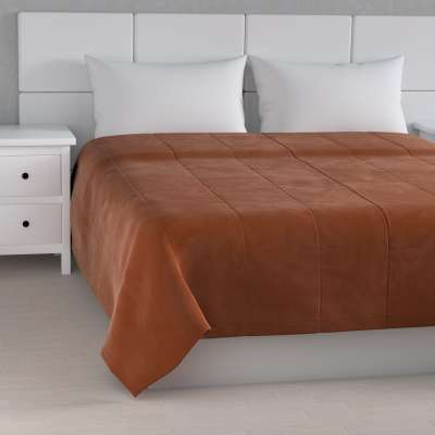 Velvet kolekcijos lovatiesės su vertikaliu dygsniavimu 704-33 ruda-plytų spalva Kolekcija Velvetas/Aksomas