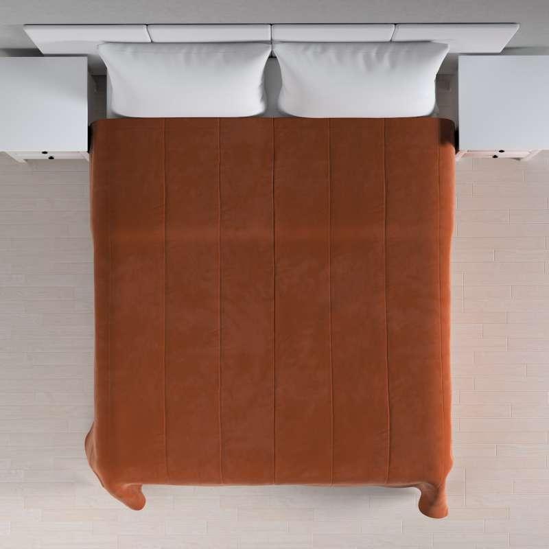 Sengetæppe quiltet<br/>25cm striper i velour fra kolleksjonen Velvet, Stoffets bredde: 704-33
