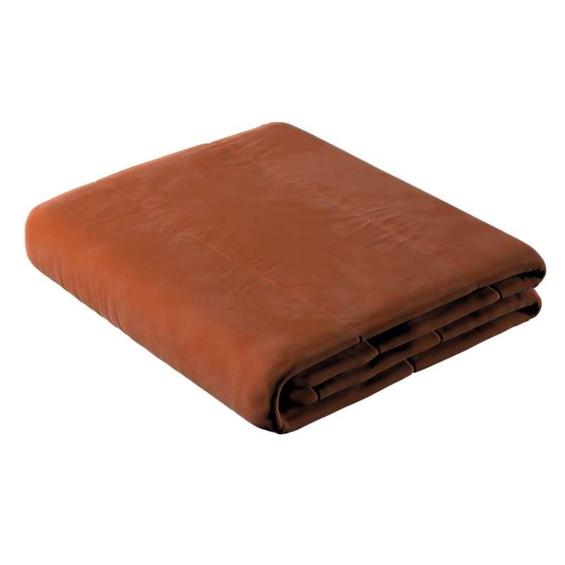 Sengetæppe quiltet<br/>i 25cm striber i velour fra kollektionen Velvet, Stof: 704-33