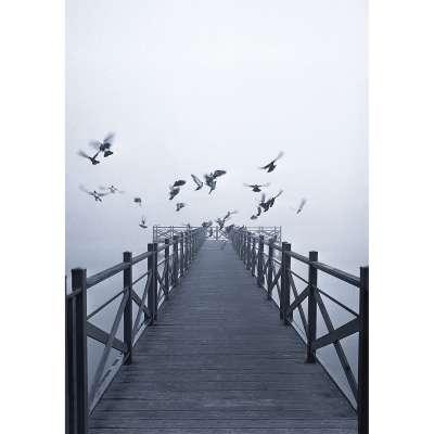 Vaizdas ant drobės  Dawn Lake Paveikslai/vaizdai - Dekoria.lt