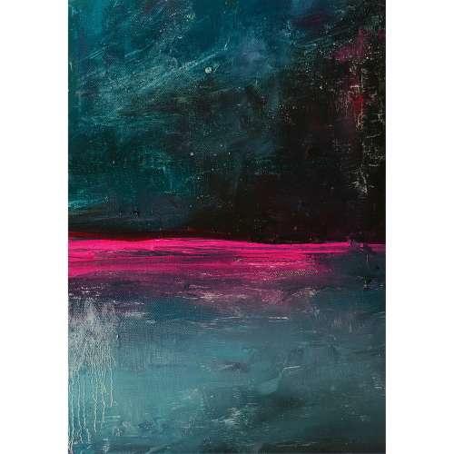 Kunstprint canvas Expression Pink I
