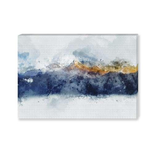 Kunstprint canvas Golden Mountains