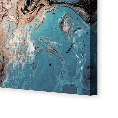 Obraz na płótnie Puring Blue&Gold
