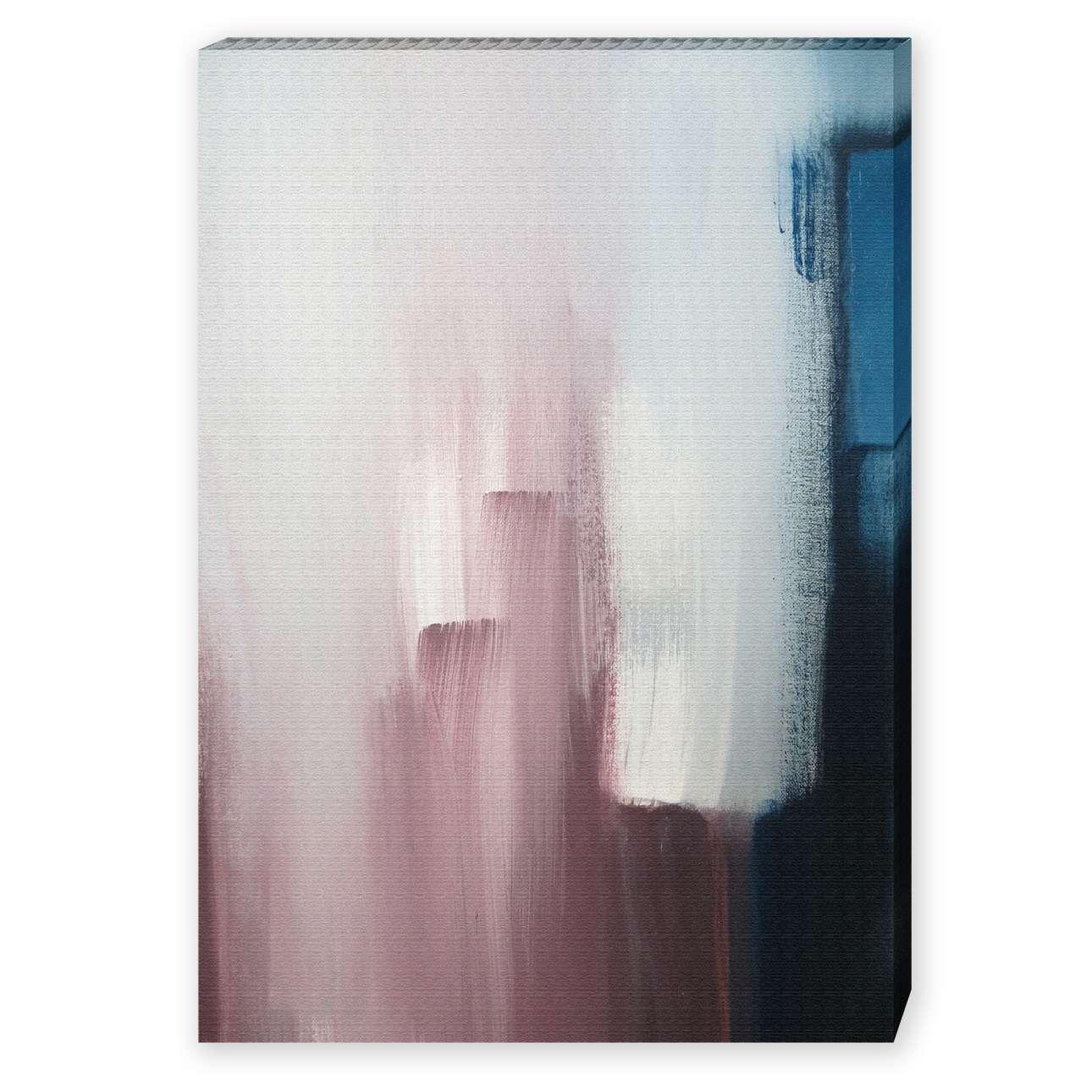 Leinwandbild Soft Smudge, 50 × 70 cm | Dekoration > Bilder und Rahmen | Weiß - Dunkelblau | Dekoria