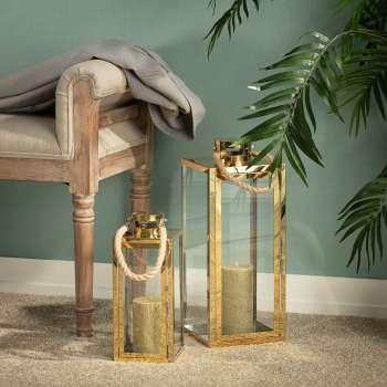 Laterne Arana Gold 43cm