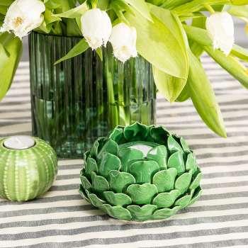 Teelichthalter Artichoke Green I