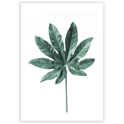 Poster Leaf Emerald Green
