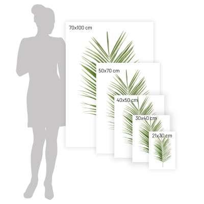 Plakát Palm Leaf Green