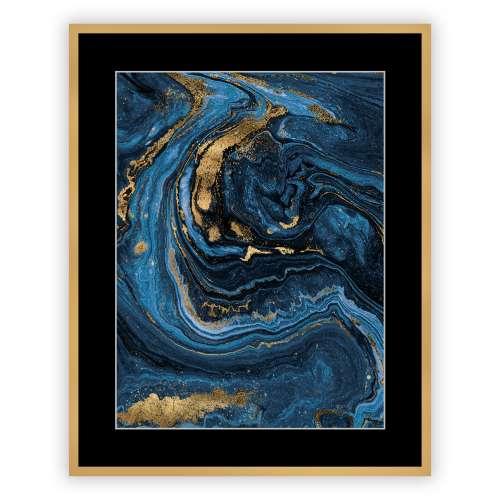 Kunstprint Pouring blue I