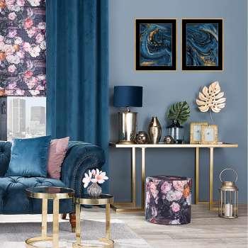 Obraz Abstract Blue&Gold I 40 x 50cm