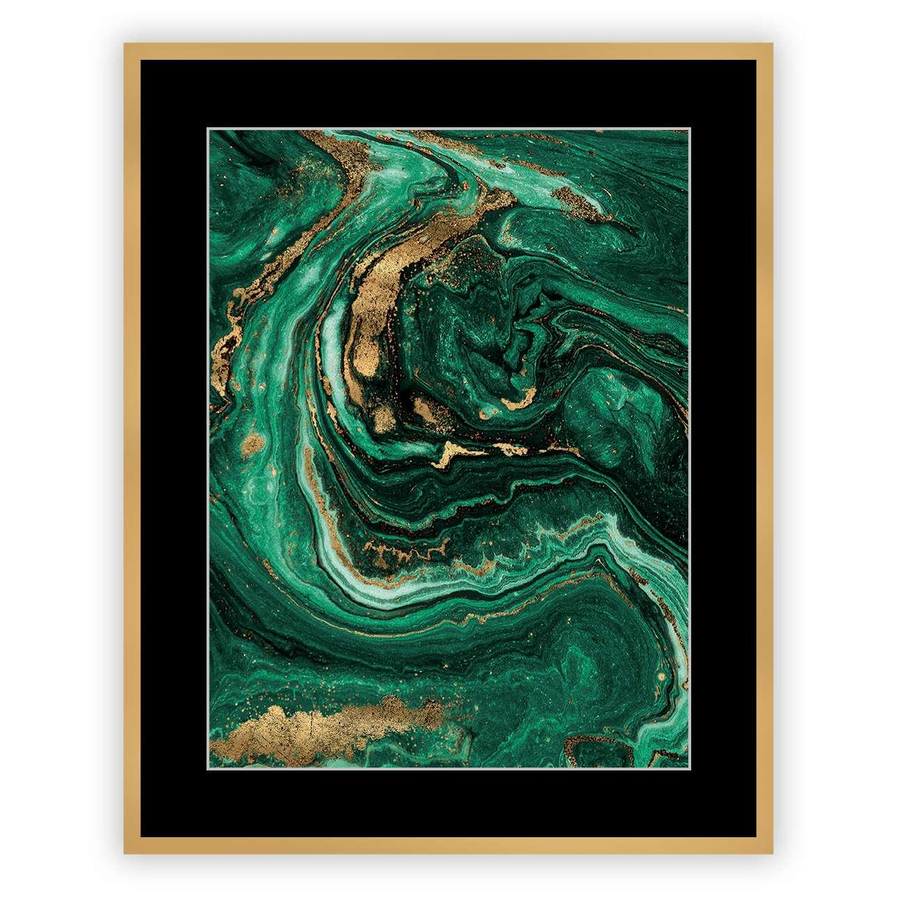 Bild Abstract Green&Gold I 40 x 50cm