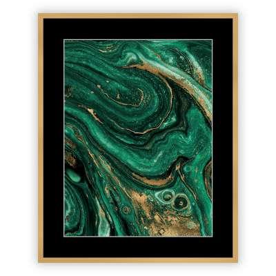 Juliste kehyksillä Abstract Green&Gold II 40 x 50cm Juliste kehyksillä - Dekoria.fi