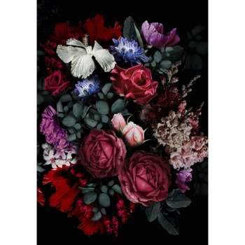 Kunstprint canvas Flowers II