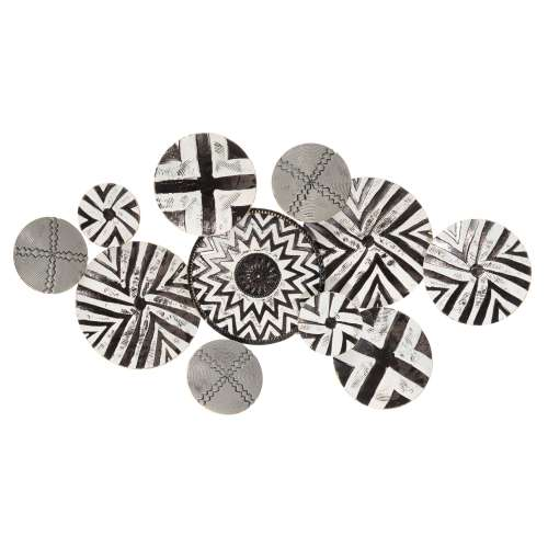 Wandobjekt Nairobi  61x110 cm black & white