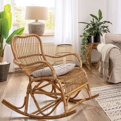 Fotel bujany rattanowy Leon naturalny