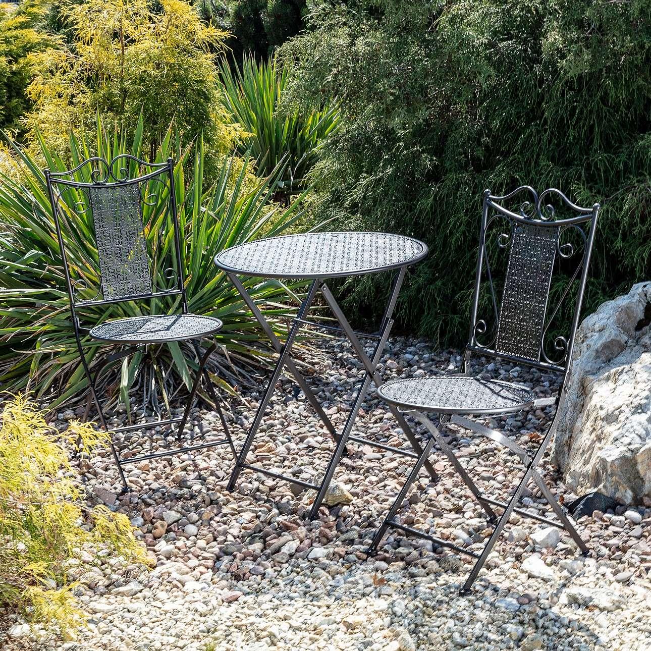 Dekoria Zestaw ogrodowy Ines stolik + 2 krzesła