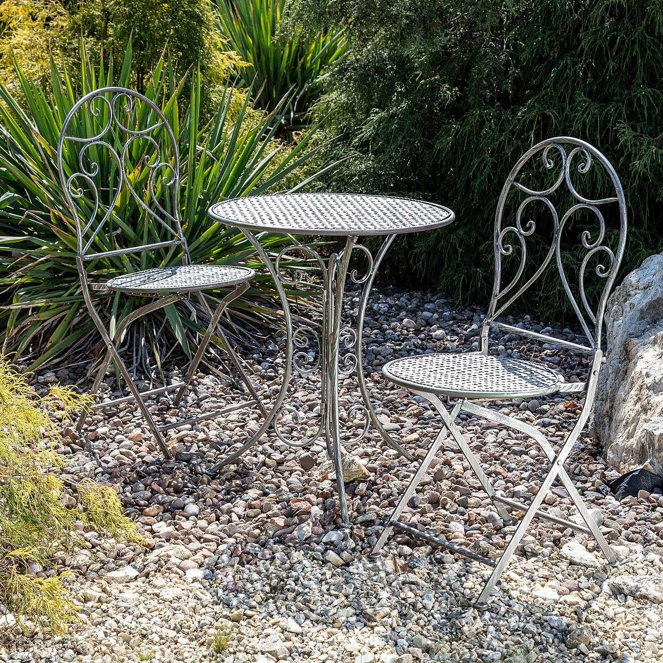 Dekoria Zestaw ogrodowy Aline stolik + 2 krzesła