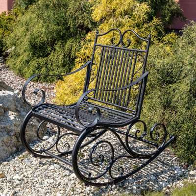 Fotel bujany Cambo metalowy