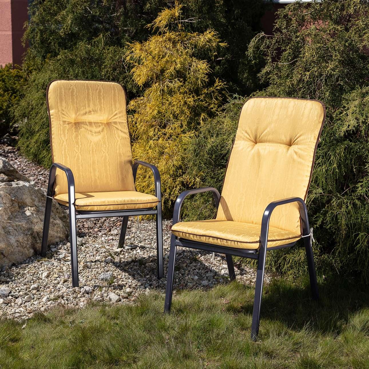 Materac ogrodowy 120 x 50 x 60 cm żółty