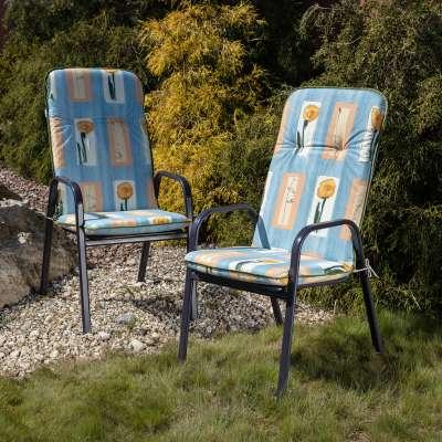 Materac ogrodowy 120 x 50 x 6 cm niebieski Materace  -30% - Dekoria.pl